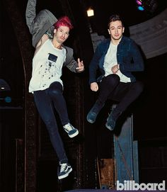 See the difference in Tyler's and Josh's faces!