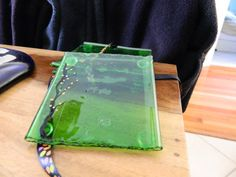 Green Beer Bottle Fused Glass Upcycled Coasters by uniquenique, $25.00 #onfireteam #lacwe #teamfest #upcycled
