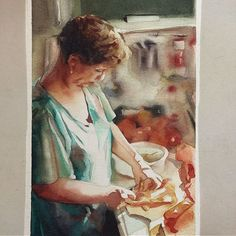 Quarta-feira, #aquarela #watercolor 18x26 cm.