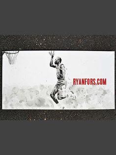 Michael Jordan Free Throw Dunk Painting by RyanForsDesign on Etsy