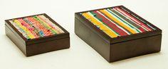 Fabric Inlay - Sml & Med. | Giftware | ASHANTI Decorative Boxes, Fabric, Home Decor, Tejido, Tela, Decoration Home, Room Decor, Cloths, Fabrics