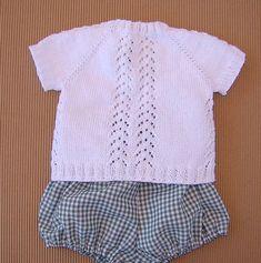 JERSEY DE BEBE GUILLE   Puntomoderno.com Cardigan, Baby Knitting, Ravelry, Free Pattern, Ruffle Blouse, Crochet, Lace, Sweaters, Women
