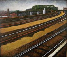 "TRACK CURVES  oil on canvas  27""x30""  2011"