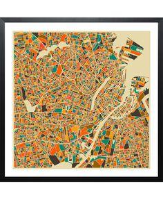 Get 15% Off! Copenhagen Map by Jazzberry Blue now on Juniqe.com | Art. Everywhere.