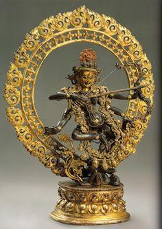 Kurukella Tibetan Art, Tibetan Buddhism, Buddhist Art, Vajrayana Buddhism, Ancient Goddesses, Buddhist Philosophy, Oriental, Zen Art, Religious Art