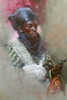 John Howard Sanden - American Portrait Painter Oil Painting On Canvas, Figure Painting, African Royalty, African Paintings, Portrait Wall, African Tribes, Black History Facts, Portrait Sketches, Black Artwork