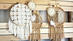 Atrapasueños hechos de crochet