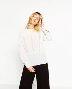 Image 1 of BLOUSE WITH LACE from Zara