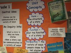Unit of Inquiry bulletin board library by whitehousecs, via Flickr