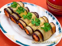 Roulade of eggplant Milk Recipes, Crockpot Recipes, Eggplant Rolls, Cooking Tomatoes, Eggplant Recipes, Russian Recipes, Latest Recipe, Appetisers, Vegetable Dishes