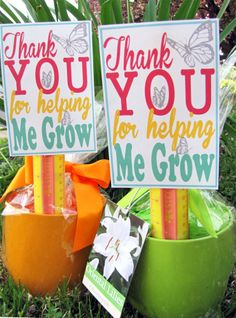 Teacher Appreciation Gift Idea with Free Printable Thank You for Helping Me Grow. Love the potted plant idea and ruler for a teacher gift. Teacher Thank You, Thank You Gifts, Teacher Gifts, Teacher Poems, Craft Gifts, Diy Gifts, For Elise, Felt Bunny, Teacher Appreciation Week