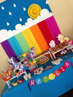 My Little pony rainbow Party! Arcoiris!