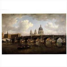 Colour Postcard - Blackfriars Bridge & St Paul's Cathedral by William Marlow Listing in the London,England,Topographical,Postcards,Collectables Category on eBid United Kingdom