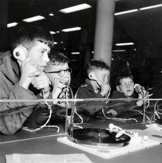 Boys in a record shop 1957