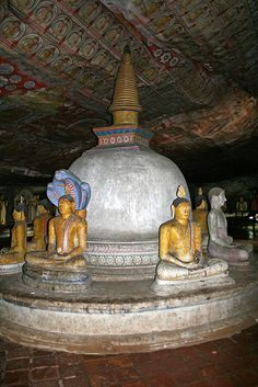 The caves of Dambulla sheltered King Walagamba during his 14 years of exile from Anuradhapura. When he regained the throne, he built the most magnificent of Rock Temples to be found in the Island. Dambulla Cave Temple - Sri Lanka