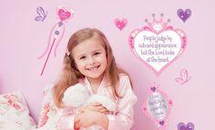 Kid's Room Decal Sets - Princess ~get 25% off using code MELANIE25 at Scriptureart.com