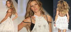 Gisele Bündchen linda, loira e poderosa a bordo de um super Strappy Bra que é tendência Primavera verão