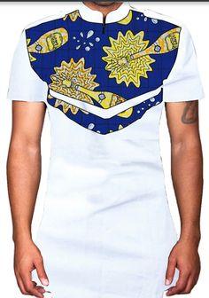 African print men slim fit shirt by essycouture on Etsy African Shirts, African Print Dresses, African Fashion Dresses, African Dress, Nigerian Men Fashion, African Print Fashion, African Wear Styles For Men, Mens Fashion Wear, African Design