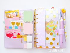 Planners Ideas and Accessories     Lilac Kikki k