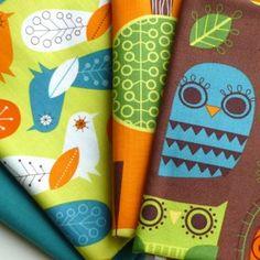 Critter community - fabric bundle retro £11.60
