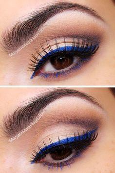 Delineado azul.