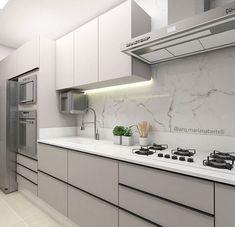 Kitchen Room Design, Kitchen Cabinet Design, Home Decor Kitchen, Interior Design Kitchen, Home Kitchens, Modern Kitchen Interiors, Modern Kitchen Cabinets, Contemporary Kitchen Design, Kitchen Modular