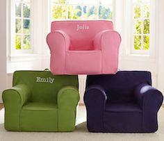 Monogrammed kids chair
