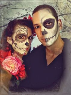 Day of the Dead couple makeup
