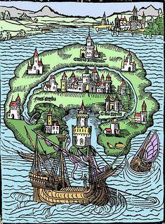 「幻の世界」や「ユートピア」など太古に思い描かれた架空の世界のイラストを集めた本「The Book of Legendary Lands」 - GIGAZINE