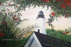 """Original Acrylic Painting 40 x 60  """"Key West Lighthouse"""", $4500.00"""