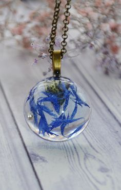 Excited to share the latest addition to my #etsy shop: Mothers Day Gift - Real Corn Flower Necklace - Terrarium Necklace - Botanical Necklace - Flower Necklace - Resin Necklace - Bohemian Jewelry https://etsy.me/2EWAtjS #jewelry #necklace #blue #girls #bronze #plants