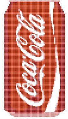 Coca cola cross stitch Cross Stitch Designs, Cross Stitch Patterns, Cross Stitching, Cross Stitch Embroidery, Pixel Art, Modele Pixel, Peler Beads, Cross Stitch Kitchen, Pixel Pattern