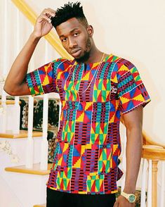 • ✤ #stylefromachitownerseye ✤ African Shirt for men African Men Fashion, Africa Fashion, African Wear, Ankara Fashion, African Beauty, Ethnic Fashion, Fashion Fashion, Mens Fashion Summer Outfits, Hipster Outfits