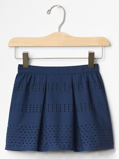 Laser-cut stripe skirt Product Image