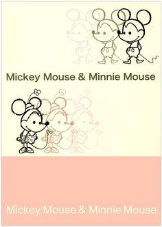 Shinzi Katoh Mickey & Minnie Mouse A5 Notebook