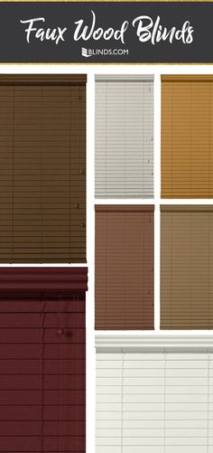 these blinds are anything but fake faux wood gives you the look of real wood