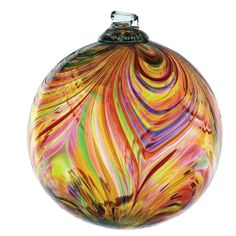 Follow us to http://freecycleusa.com Kitras Art Glass Decorative Feather Ball, 3-Inch, Celebration