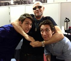 My new favorite picture!  James and Oliver Phelps and Michael Rooker.  The Weasley twins and a Dixon brother!  My nerd brain has exploded!