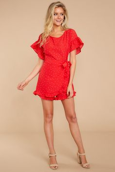df18b5e2e42 Flirty Red Romper - Polka Dot Romper - Playsuit -  48.00 – Red Dress  Boutique Lady