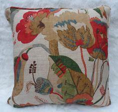 GP & J Baker Fabric, California ~ Cushion Cover, Textured Linen ~ Art Deo Gp&j Baker, Textiles, Fabulous Fabrics, Pattern Paper, Flower Art, Print Patterns, Cushions, California, Throw Pillows