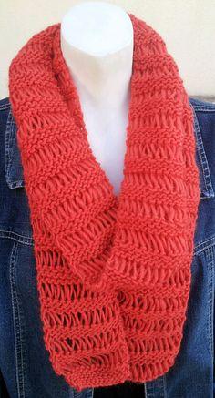 Cozy Orange Knit Scarf in Airy Garter Stitch by stinkR on Etsy, $20.00