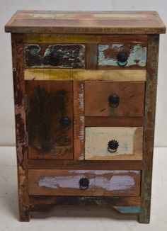 Reclaimed Timber Drawer Cabinet. Jodhpur Wooden Furniture Factory