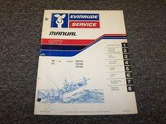 1977 Evinrude 70 75 HP Outboard Motor Shop Service Repair Manual Guide Book