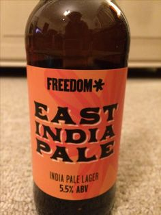 East India pale lager, 5.5% Freedom, provided by BeerBods