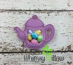 Teapot Favor Bag ITH Embroidery Design