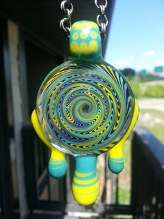 Handmade borosilicate glass pendant KauffyGlass