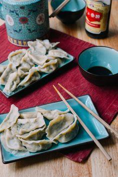 Pork Chive Dumplings, by thewoksoflife.com