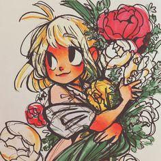 the cutest little flower girl