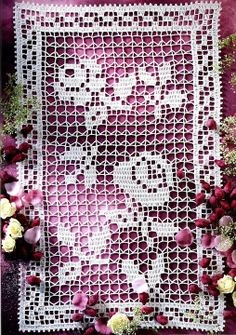 Filet crochet - I esp like the filet part of this pattern