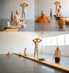 Italian sculptor Willy Verginer. life sized swimmers www.tramake.com art and style blog